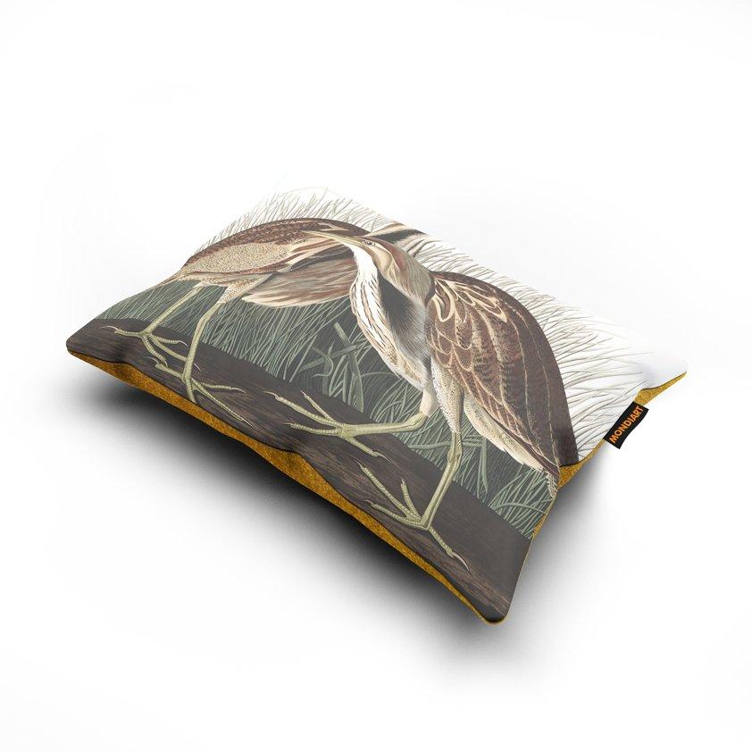 Cushion set/2, American Bittern - bird
