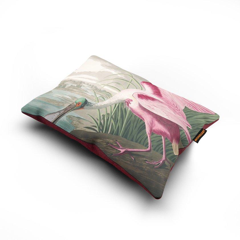 Cushion set/2, Roseate Spoonbill - bird