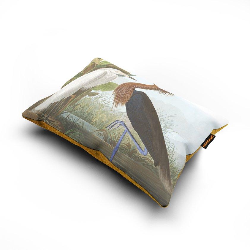 Cushion set/2, Purple Heron - bird