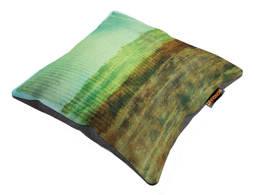 Cushion Set/2, Watercolor greens 01