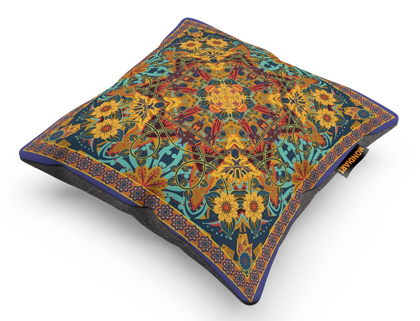 Cushion Set/2, Psychedelic Winter