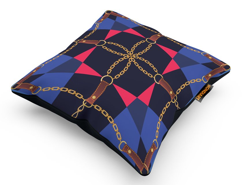 Cushion Set/2, Geometric Chains