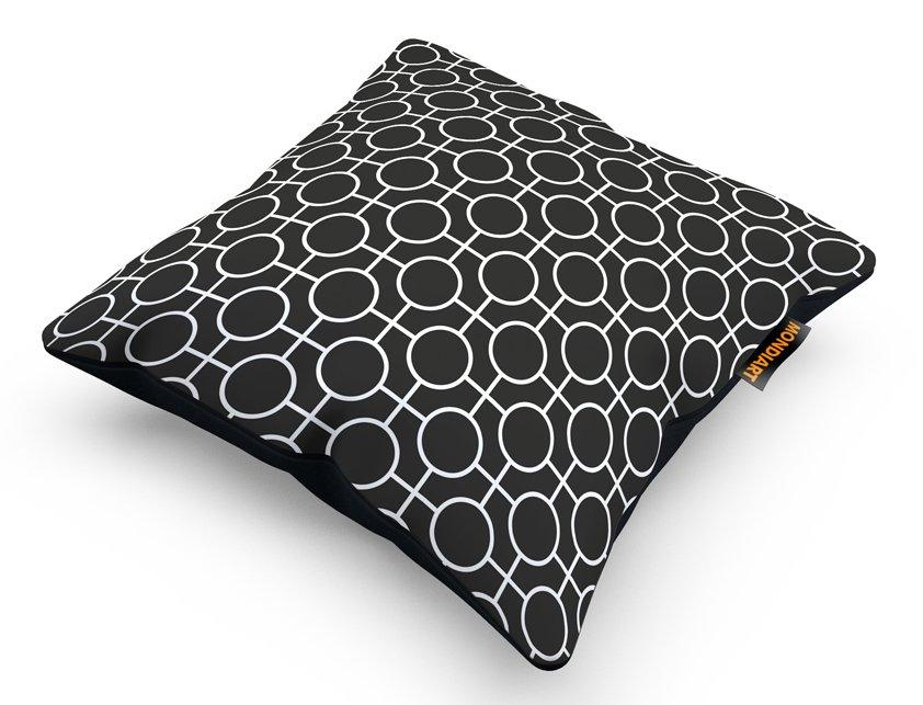 Cushion Set/2, Geometric Black
