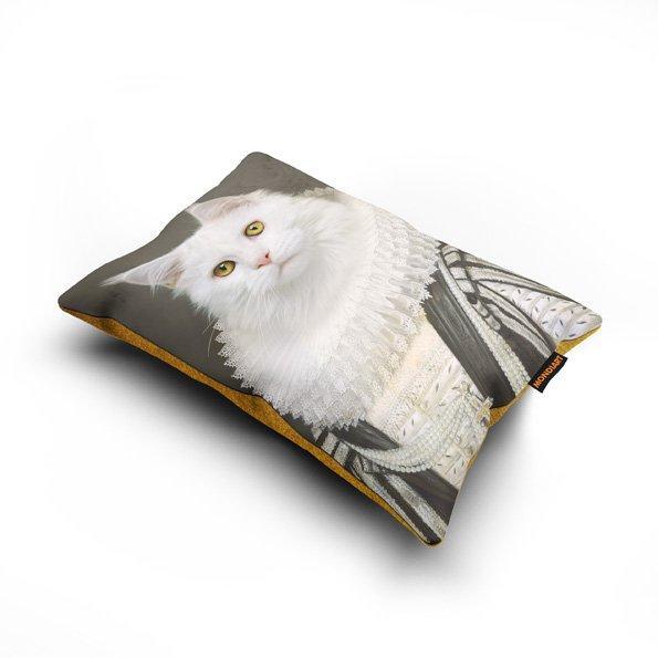 Cushion set/2, Royal White cat