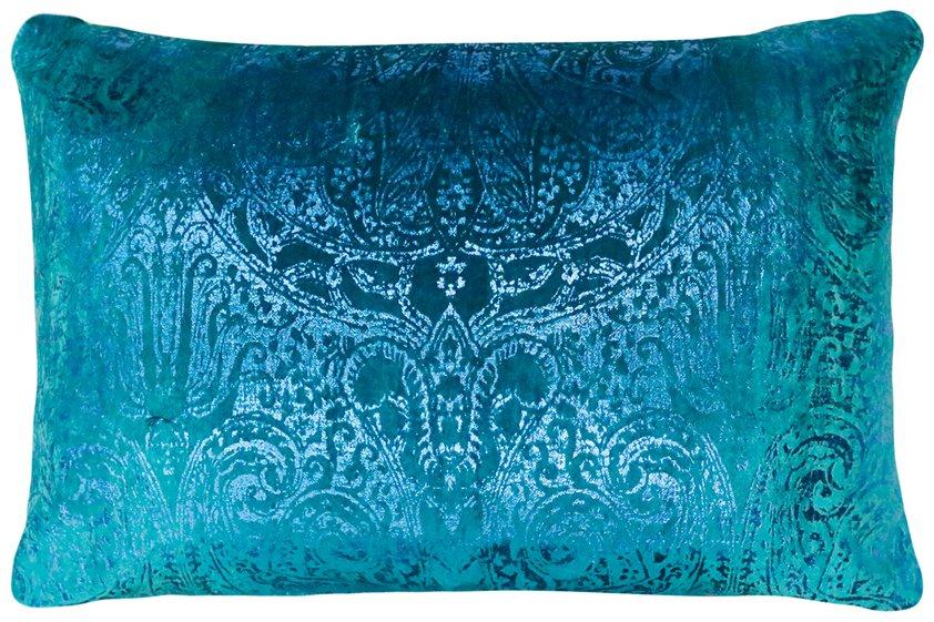 cushion, Velvet Paisley