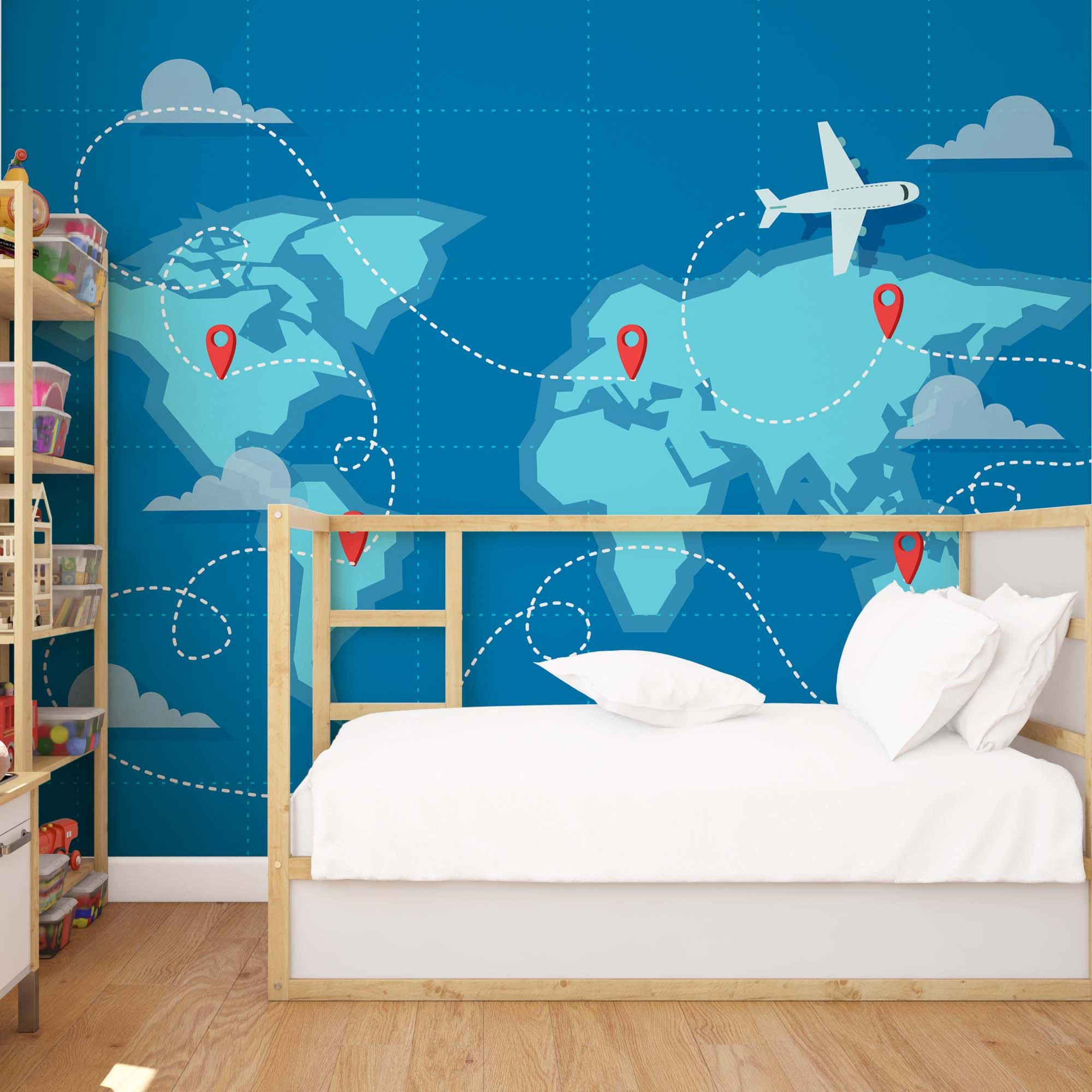 World Map Fly