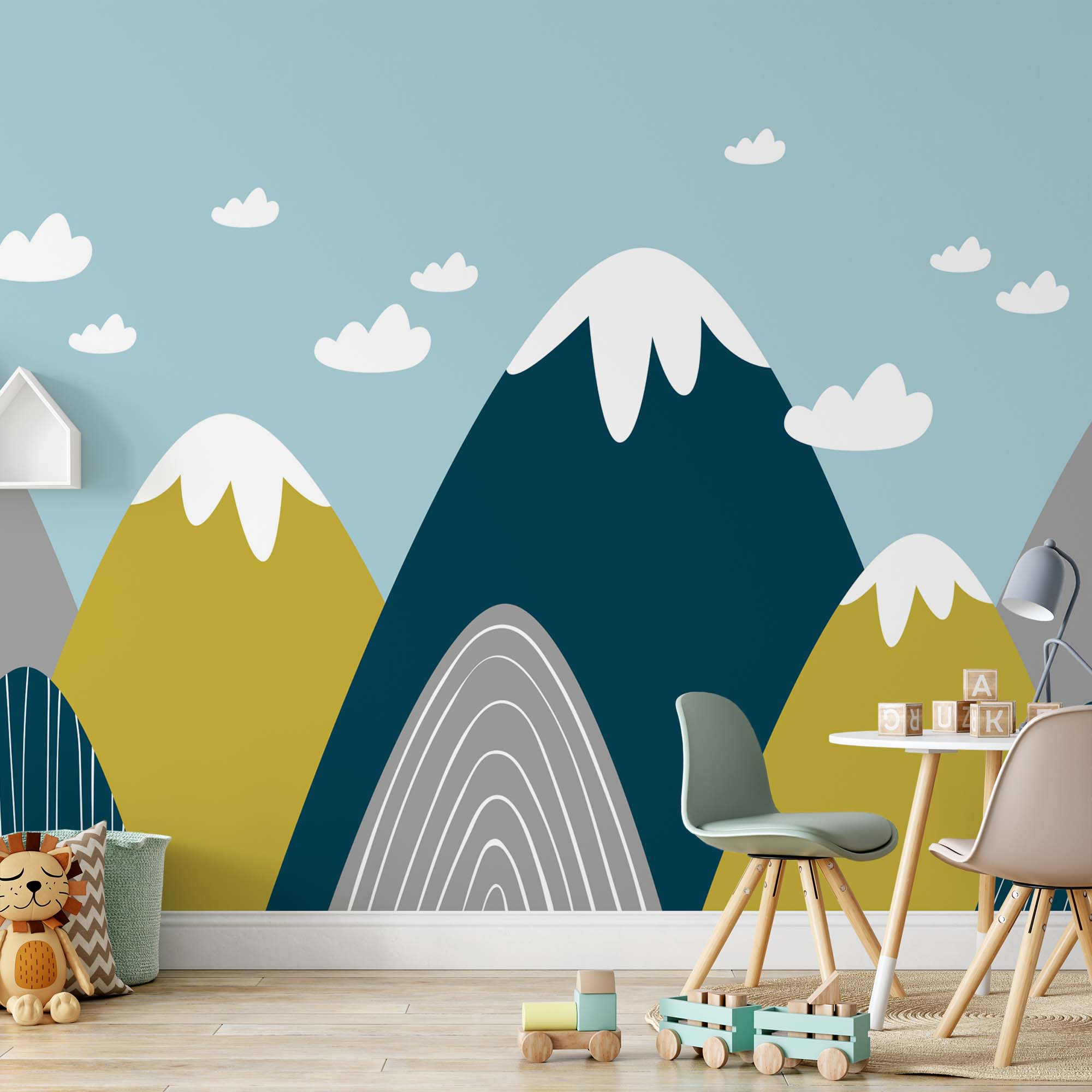 Fotobehang Classic Mountains for Kids