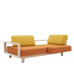design 2-zits bank wood